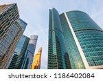 modern architecture  futuristic ... | Shutterstock . vector #1186402084