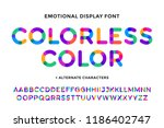 colorful font. colorful bright... | Shutterstock .eps vector #1186402747