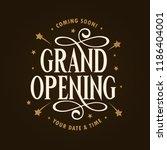 grand opening template  banner  ... | Shutterstock .eps vector #1186404001