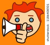 emoticon with redhead boy that... | Shutterstock .eps vector #1186408501