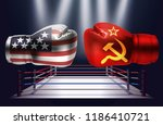 boxing gloves with prints of... | Shutterstock .eps vector #1186410721