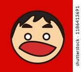 pictogram with shocked or... | Shutterstock .eps vector #1186413691