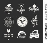 farmers market labels emblems... | Shutterstock .eps vector #1186415941