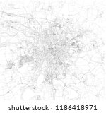 leipzig map  satellite view ... | Shutterstock .eps vector #1186418971