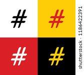 hashtag sign illustration.... | Shutterstock .eps vector #1186422391