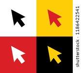 arrow sign illustration. vector.... | Shutterstock .eps vector #1186422541