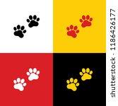animal tracks sign. vector.... | Shutterstock .eps vector #1186426177