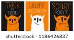 set of 3 cute hand drawn... | Shutterstock .eps vector #1186426837