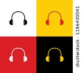 headphones sign illustration.... | Shutterstock .eps vector #1186430041