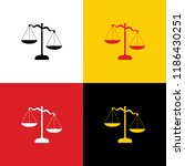 scales of justice sign. vector. ... | Shutterstock .eps vector #1186430251
