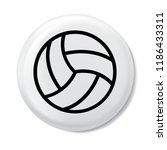 volleyball ball   black vector... | Shutterstock .eps vector #1186433311