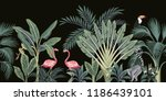 tropical vintage wild animals ... | Shutterstock .eps vector #1186439101