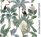 Tropical Vintage Wild Animals ...