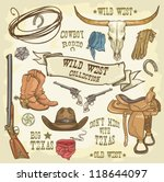 wild west collection  cowboy... | Shutterstock .eps vector #118644097