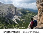 hiking the alta via 1 in the... | Shutterstock . vector #1186446061
