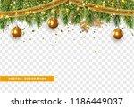 christmas border with fir... | Shutterstock .eps vector #1186449037