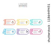 thin line flat numbers... | Shutterstock .eps vector #1186449451