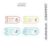 thin line flat numbers... | Shutterstock .eps vector #1186449457