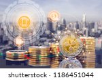 ripple xrp and cryptocurrency... | Shutterstock . vector #1186451044