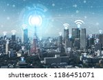 internet of things connections... | Shutterstock . vector #1186451071