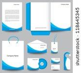 stationery template design | Shutterstock .eps vector #118645345