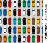 aerial view parking with lots... | Shutterstock .eps vector #1186455301