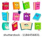 books cartoon characters set.... | Shutterstock .eps vector #1186456831