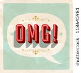 """""""omg """" popular expression   oh...   Shutterstock .eps vector #118645981"""