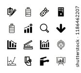 linear icons with tap  paying... | Shutterstock .eps vector #1186462207