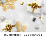 christmas vector background.... | Shutterstock .eps vector #1186464091