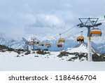 dramatic skiing scenery in... | Shutterstock . vector #1186466704