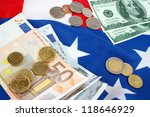 two currencies  euros and... | Shutterstock . vector #118646929