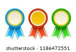 colorful set of medals | Shutterstock .eps vector #1186472551