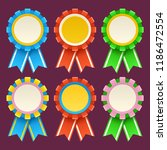 set of coloful medals | Shutterstock .eps vector #1186472554