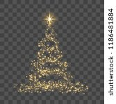 christmas tree on transparent... | Shutterstock .eps vector #1186481884