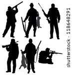 aiming,black,chase,chevy,chivy,duck,fox,guard,hobby,hunt,hunter,huntsman,isolated,men,military