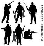 hunter silhouette on white... | Shutterstock .eps vector #118648291