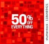 50 percents off sale banner ... | Shutterstock . vector #1186485421