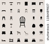 chair icon. furniture icons... | Shutterstock .eps vector #1186489837