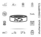 fish preserves icon. fish... | Shutterstock .eps vector #1186489921