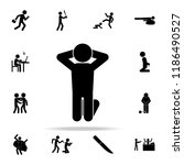 arrested man on his knees icon. ... | Shutterstock .eps vector #1186490527