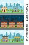 set of three vector... | Shutterstock .eps vector #1186492921