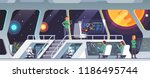 interstellar spaceship main... | Shutterstock .eps vector #1186495744