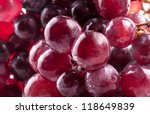 Red Grape With Water Drops ...