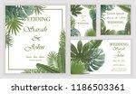 set wedding invitation with... | Shutterstock .eps vector #1186503361