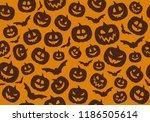 texture with pumpkins  ... | Shutterstock .eps vector #1186505614