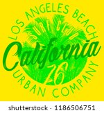 vintage beach poster. vector... | Shutterstock .eps vector #1186506751