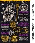 halloween food menu with... | Shutterstock .eps vector #1186506787