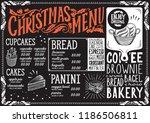 christmas menu template for... | Shutterstock .eps vector #1186506811