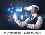 elegant businessman in dji... | Shutterstock . vector #1186507804